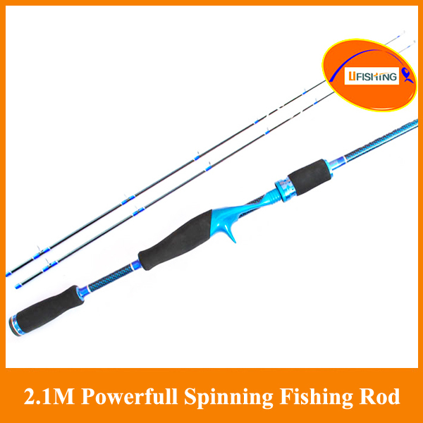 Free shipping By EEMS 2.10m spining rod double polders M ML 2 tips casting luxurious carbon telescopic rods sea rod hand pole
