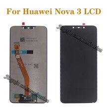 """6.3 """"מקורי LCD תצוגה עבור Huawei נובה 3 LCD מגע מסך דיגיטלי ממיר הוחלף Huawei Nova3 תצוגת תיקון חלקי"""
