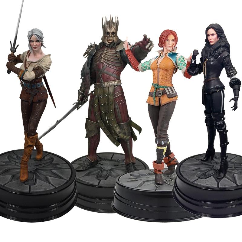 The Witcher 3 Anime Figure sauvage chasse: roi Eredin Ciri Triss Merigold Figure cheval noir Yennefer Pvc jeu Collection jouet