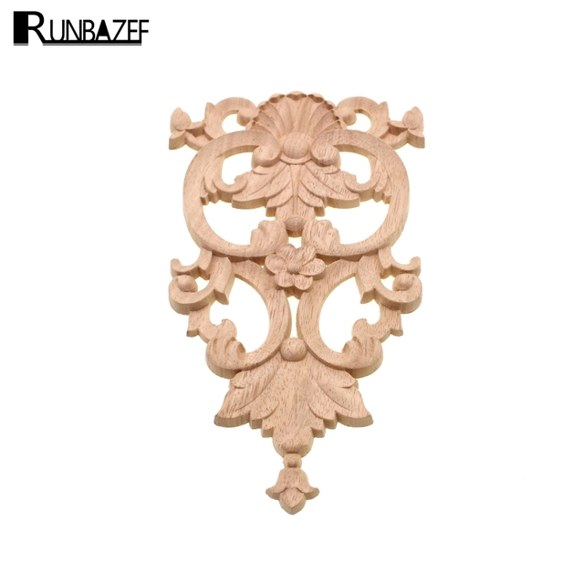 RUNBAZEF Carved Floral Background Wall Wood Decoration Flower Vintage Home  Decor Accessories Fireplace Miniature Garden Globe