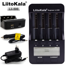 Liitokala engineer Lii-500 LCD 3.7 v 18650 18350 18500 16340 17500 25500 10440 14500 26650 1.2 v AA AAA NiMH lithium pin Sạc(China)
