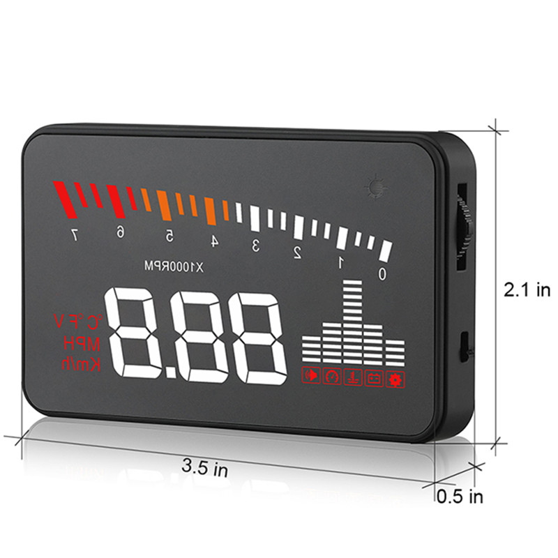 Image 4 - GEYIREN 2019 X5 OBD2 Head Up Display Speedometer Windshield Projector RPM Speed Alarm Car EU OBD HUD Display Auto Electronic-in Head-up Display from Automobiles & Motorcycles