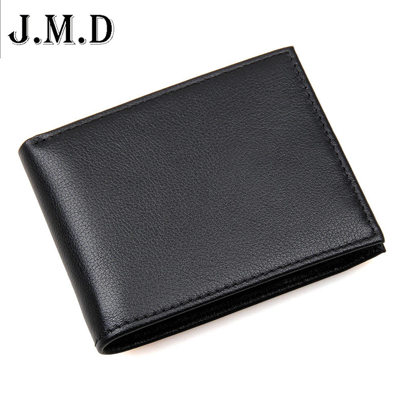 J.M.D Brand New 100% Real Cowhide Genuine Leather Men Wallets Short Design Vintage Casual Purse Mens RFID Leather Money Walle high end brand leather men keep the combination of the real stock exchange zip pocket money cowhide mixed skin