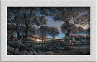 Terry Redlin CAMPING_ON_SUNSET_PT oil painting HD canvas printing art Giclee home decoration wall murals holiday gift no frame