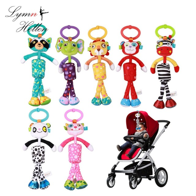 25cm Baby Rattle Bell Bed Hanging Crib Stroller Stuffed