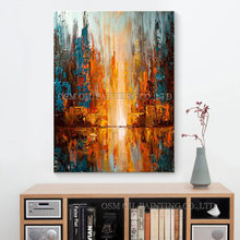 High Skills Artist Handmade High Quality Abstract Wonderful Oil Painting on Canvas Modern Wall Art for Desk Wall Decoration(China)