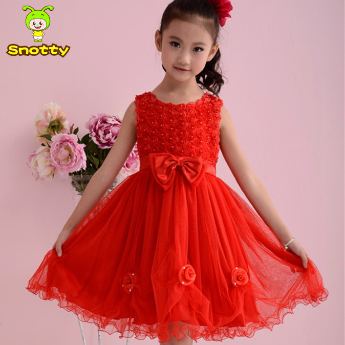 aa190a5e44f Fashion designer flower girl gowns red bowknot baby girl wedding dress new  design fashion girls dresses for 3-10 age KD-1430