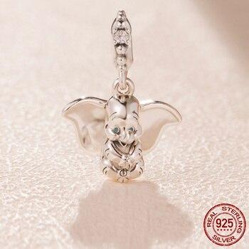 b18769314fdd En la primavera de 925 cuentas de plata esterlina Dumbo del encanto Fit  Original Pandora pulsera para mujer de jewelrly o regalo