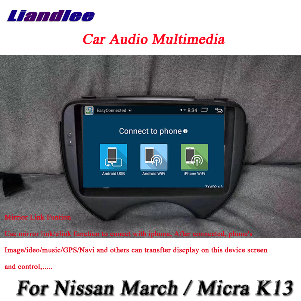 Liandlee Car Android System For Nissan March / Micra K13 / For Renault pulse Radio GPS Navi MAP Navigation HD Screen Multimedia cawanerl car sealing strip kit weatherstrip rubber seal edging trim anti noise for nissan almera march micra note pixo platina
