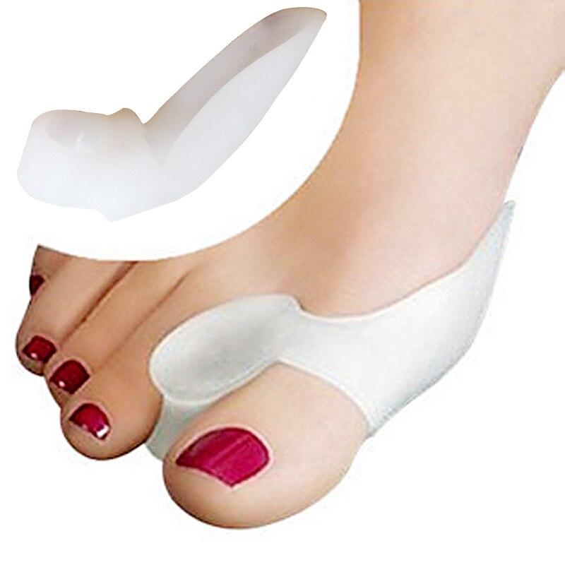 4pcs=2pair Silicone Bunion Corrector Bone Big Toe Protector Orthotic Gel Foot Care Tool Hallux Valgus Toe Spreader Pedicure Tool