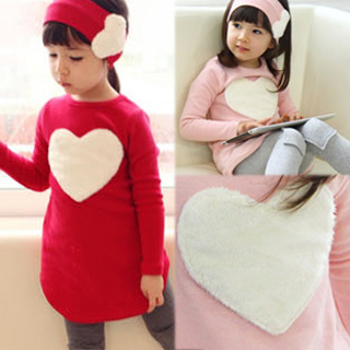 2016 New Spring Baby Girls Clothes Set Pink Red Heart Kids Shirt Pants Kids Sets Suit