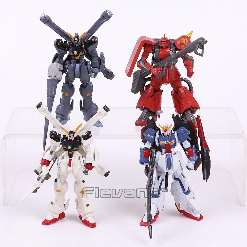 Gundam Stand art PVC Model Action Figures 4pcs/set Z GUNDAM MSZ-006 / Crossbone Gundam XM-X1 / XM-X2 / ZAKU II MS-06R-2