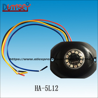 HA 5L8 High Power DUAL COLOR LED Hide Away Warning Light Vehicle Emergency Surface Mount Light