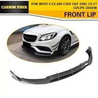 C Class Carbon Fiber Front Bumper Lip Spoiler Kit For Mercedes Benz C205 C63 AMG S