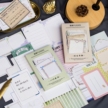 100 pcs/lot Vintage Craft Travel Memo Pad Sticky Notes Memo Notebook Stationery School Office Supplies Notepad domikee classic vintage craft hardcover office school spiral notebooks set stationery includes pen index memo pad accessories a5