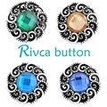 Botón a presión rivca joyas estilo de botón a presión de metal rhinestone pulseras para las mujeres brazalete de europa perlas regalos de navidad d03218