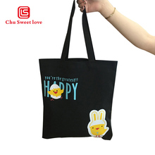 Casual large-capacity handbag shoulder canvas bag cartoon print storage shopping bag beach bag цены
