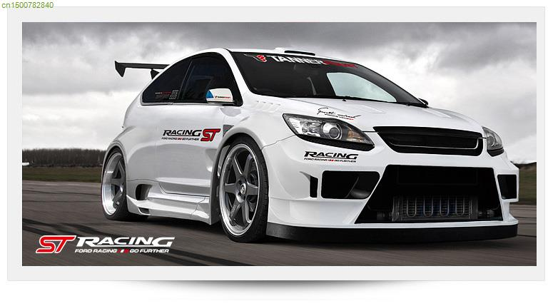 RACING GO FURTHER Design Car Window Styling For FORD FOCUS - Racing car decals design
