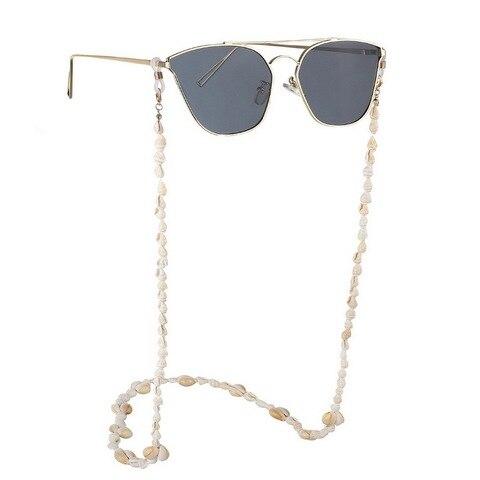 F.J4Z New Hot Seashell Glasses Chain Summer Beach Nature Shell Sunglasses Straps Cowrie Eyewear Holder Sun Glasses Accessories Multan