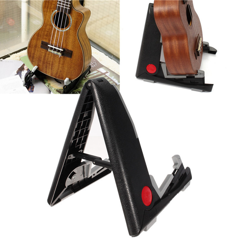 Universal Portable Floor Stand Holder Folding Acoustic Bass Musical Instruments Frame Ukulele Plastic Rack Guitar Accessories portable folding electric acoustic bass guitar stand guitarra bracket a frame floor rack holder strings instrument accessories
