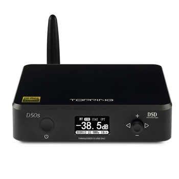 RICHT D50S CSR8675 Bluetooth 5,0 ES9038Q2M AUDIO Dekodierung USB DAC XMOS XU208 DSD512 32Bit/768 Khz OPA1612 USB/ OPT/COAX eingang