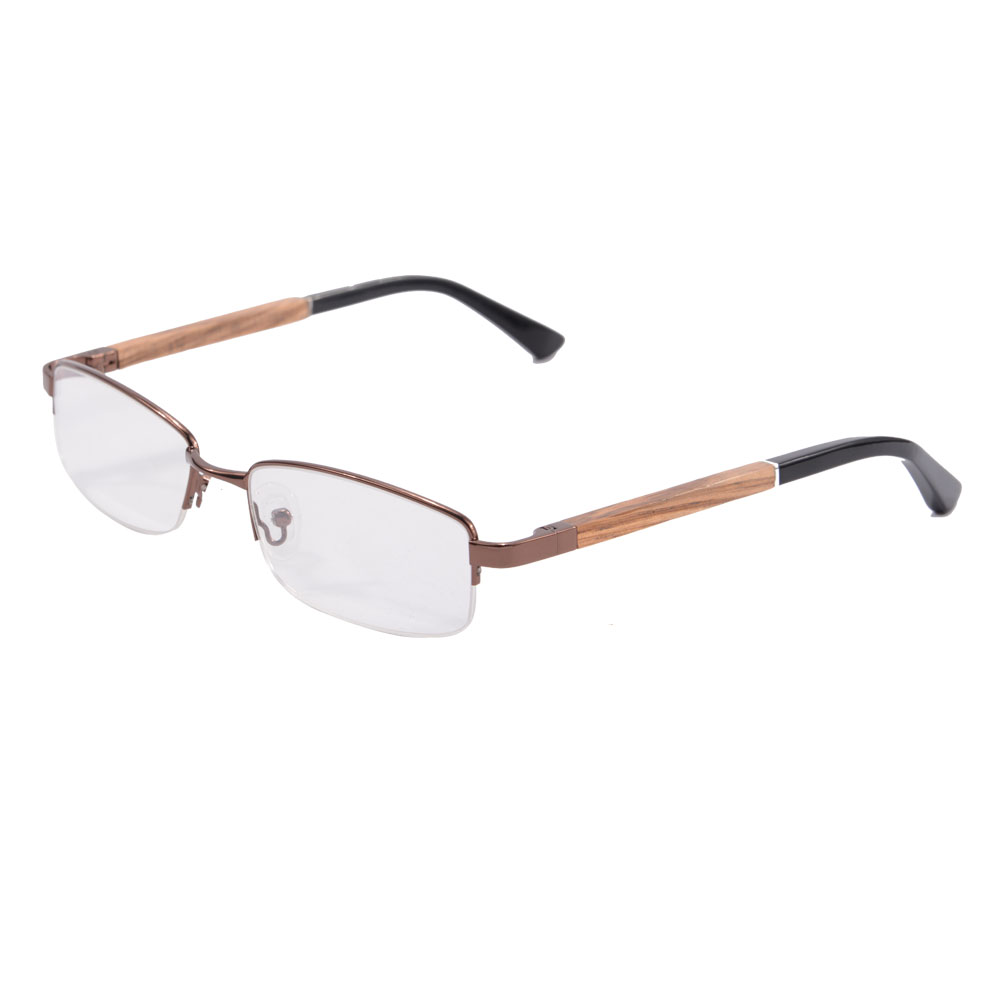 wood glasses frames women half frame glasses men luxury optical glasses eyewear wooden eyeglass frames 1501