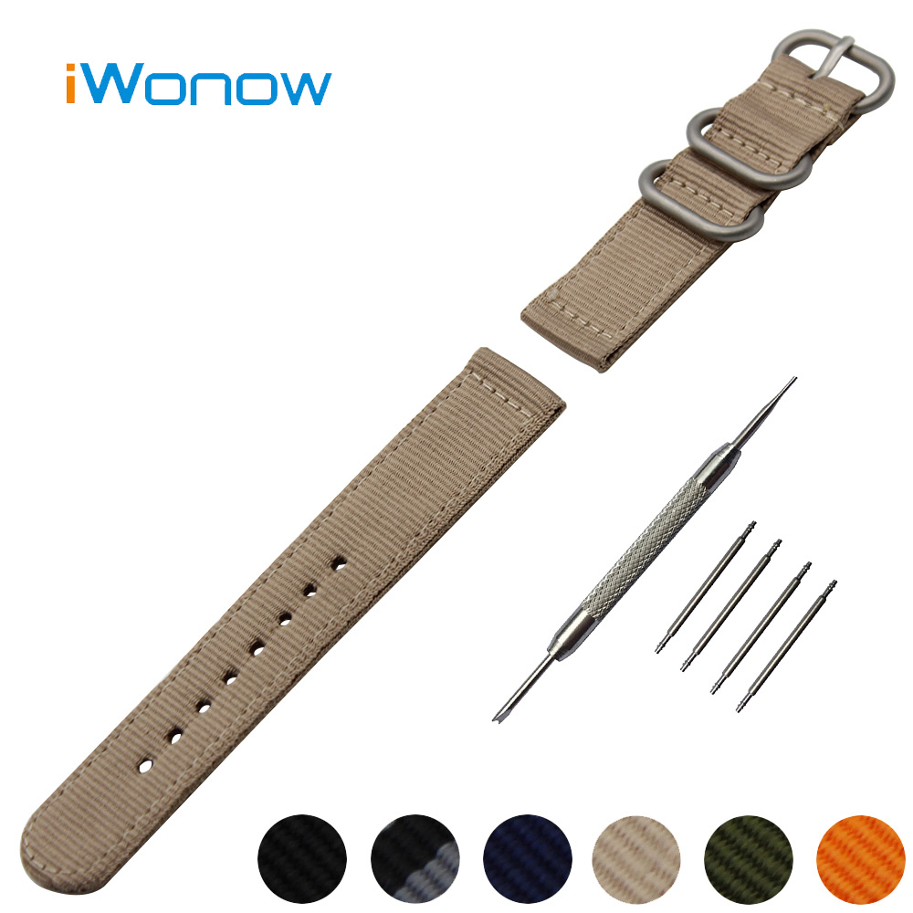 Nylon Watch Band 18mm for Withings Activite / Steel / Pop Stainless Steel Pin Buckle Strap Wrist Belt Bracelet + Spring Bar military nylon stainless steel survival paracord bracelet khaki
