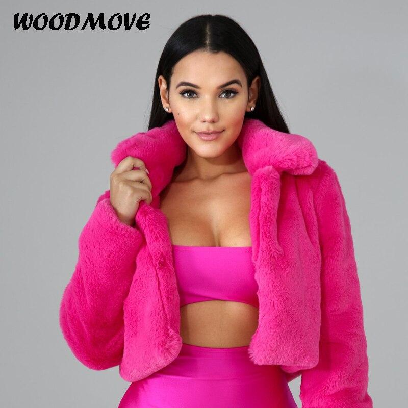 Hiver femmes couleur unie à manches longues veste nouveau manteau de fourrure des femmes de haute qualité femmes manteau veste pardessus court manteau Outwear