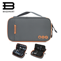 BAGSMART Electronic Organizers Portable Accessories Bag Waterproof Travel Bags For Phone Data Line SD Card USB