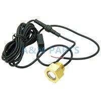 Boat LED Drain Plug Light Garboard Brass1/2 NPT Marine Underwater Light 6W White