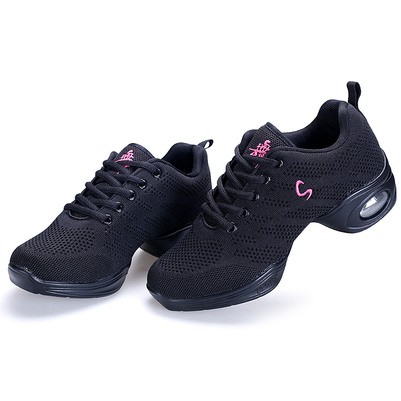 New Women Modern Dance Sneakers Soft Outsole Mesh Jazz Hip Hop Dancing Shoes