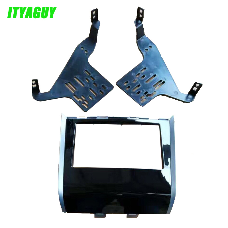 ITYAGUY 2DIN Car Radio Fascia For Nissan Pathfinder 2013+ UV black stereo facia frame panel dash mount kit adapter Bezel frame ityaguy fascia for ford ranger 2011 stereo facia frame panel dash mount kit adapter trim