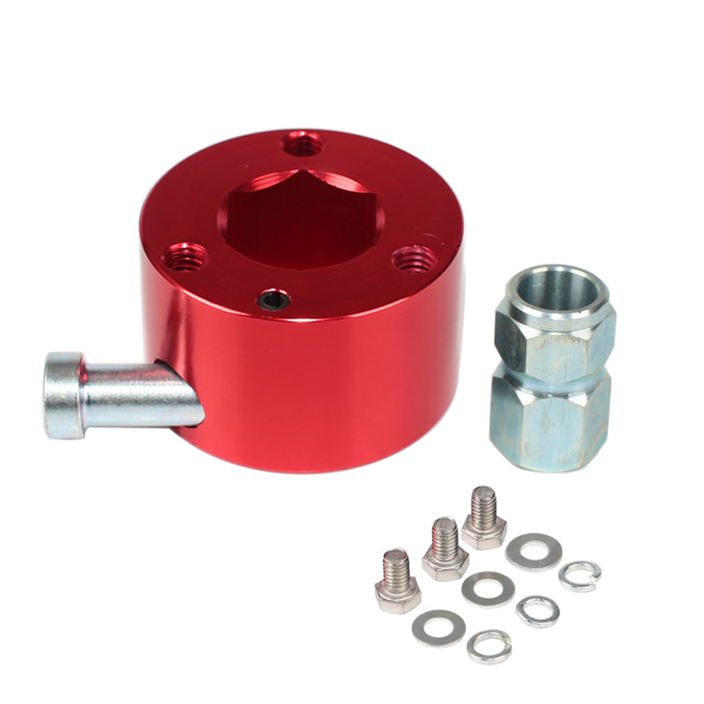 """3 hole Steering Wheel Quick Release Disconnect Hub 3//4/""""Bore Shaft Push Button US"""