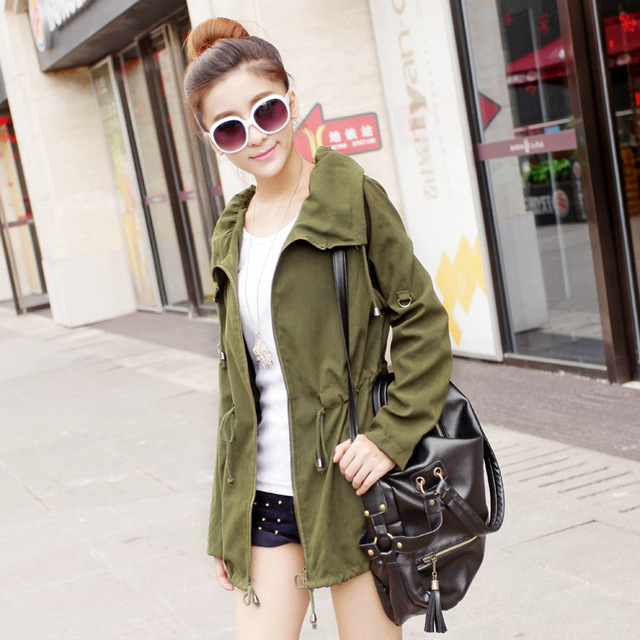 Новый 2016 Леди Мода Куртка Женщин Случайных Ветровка Весна Осень женские Пальто Свободный Тонкий Верхней Одежды