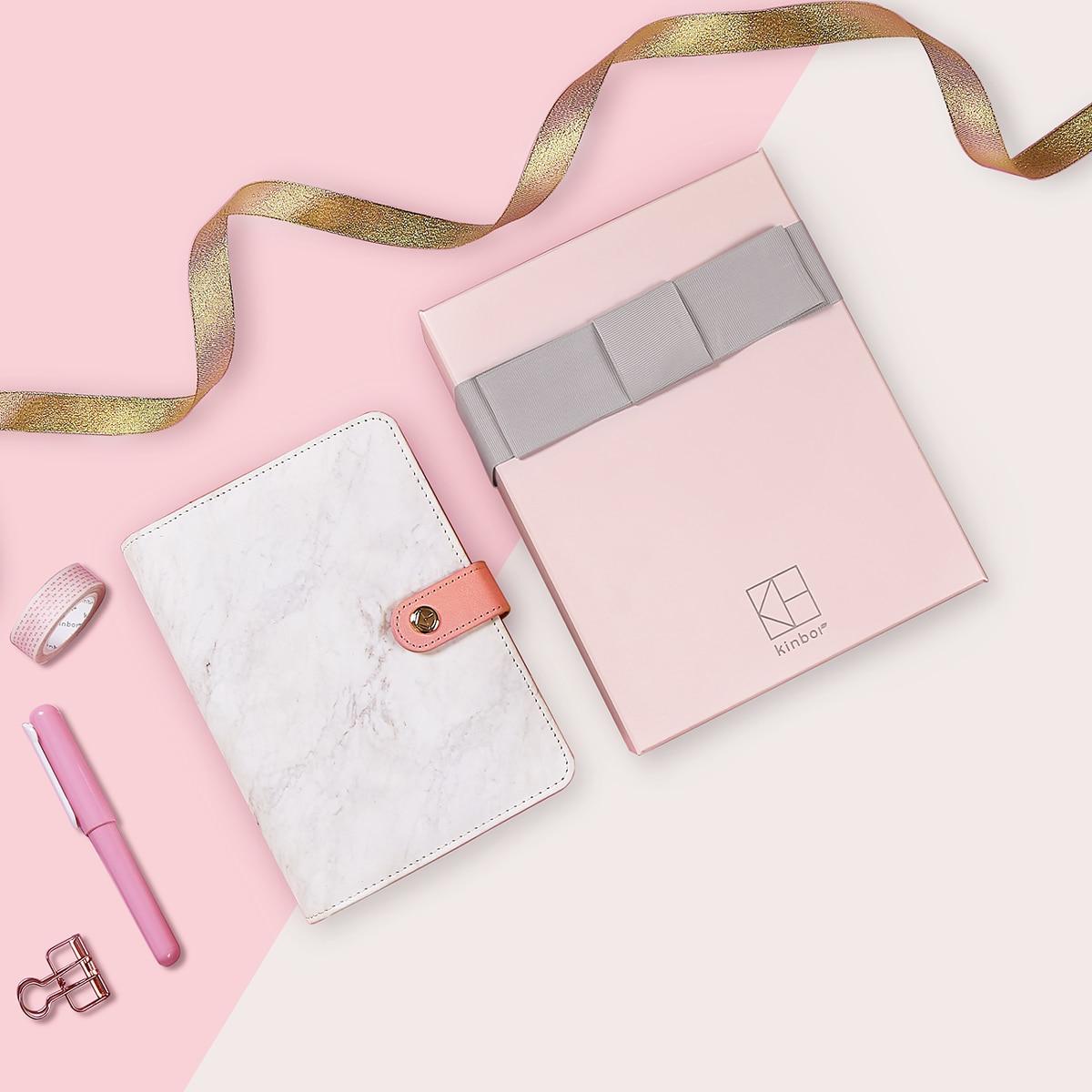 13 accessoires boîte cadeau papeterie ensemble mode cuir Journal organisateur planificateur rechargeable Journal A6 spirale liant Journal
