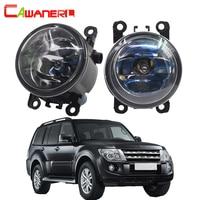 Cawanerl 2 Pieces 100W H11 Car Halogen Fog Light Daytime Running Lamp DRL 12V For Mitsubishi