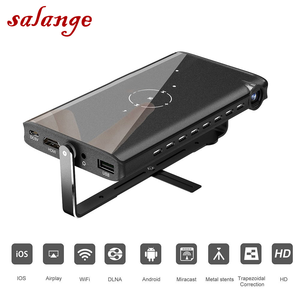 Salange P2 Projector for iphone Pico Video Projector Support DLP DLNA HDMI 1080P WIFI USB Proyector for Android Mac Windows mini tv micro dlp wifi portable pocket led smartphone projector bluetooth pico hd video 1080p hdmi for ipad iphone 6 7 white ios