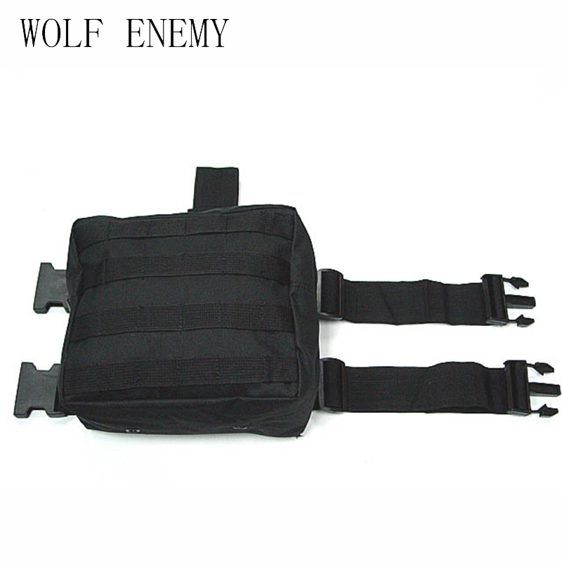 Army Military Molle Tactical DUMP Drop Leg Panel Utility Pussin Paintball Airsoft Storage Magazine Camo vyötärölaukku
