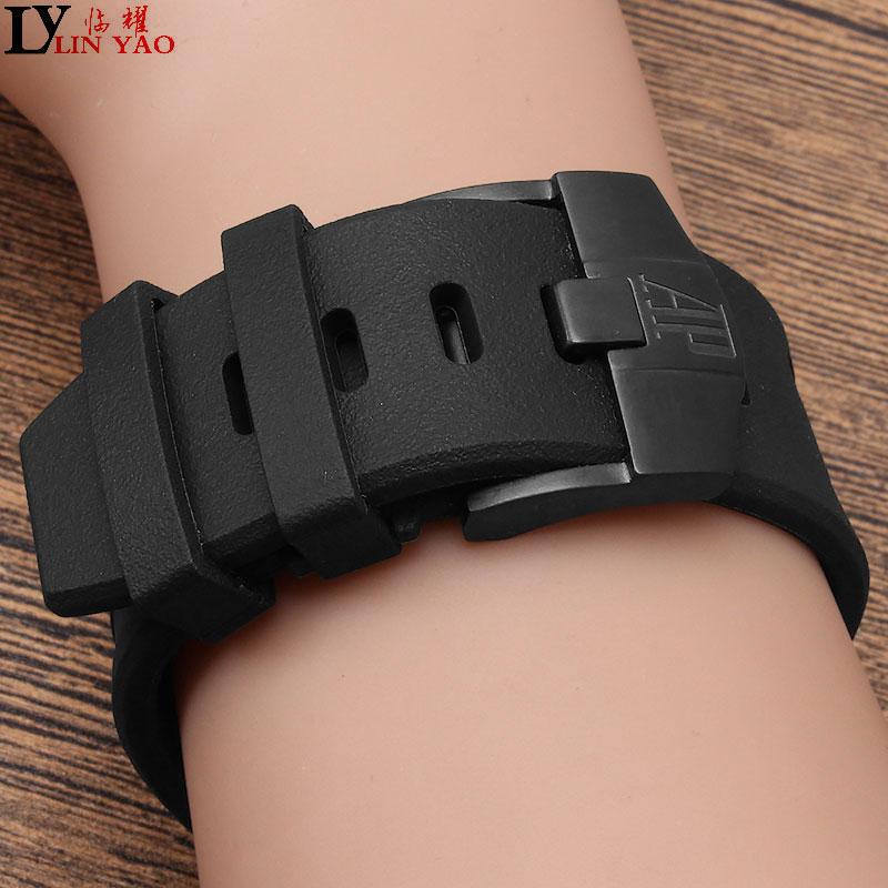 28mm Waterproof Watch Strap Rubber Watch Strap For AP Royal Oak Series. For AP Royal Offshore Oak Automatic Watch Belt