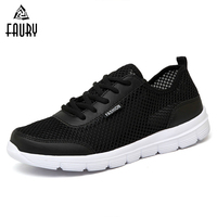 2018 Men Shoes Summer Sneakers Breathable Casual Shoes Couple Male Fashion Lace up Mens Mesh Flats Shoe Big Plus Size