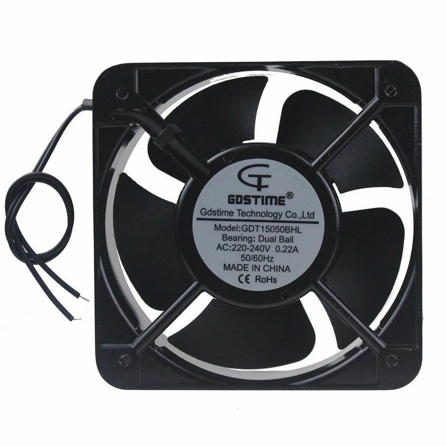 1Pcs Gdstime 150x150x50mm AC 220V 240V Ball Bearing 150mm 15cm 15050 Industrial Cooling Fan