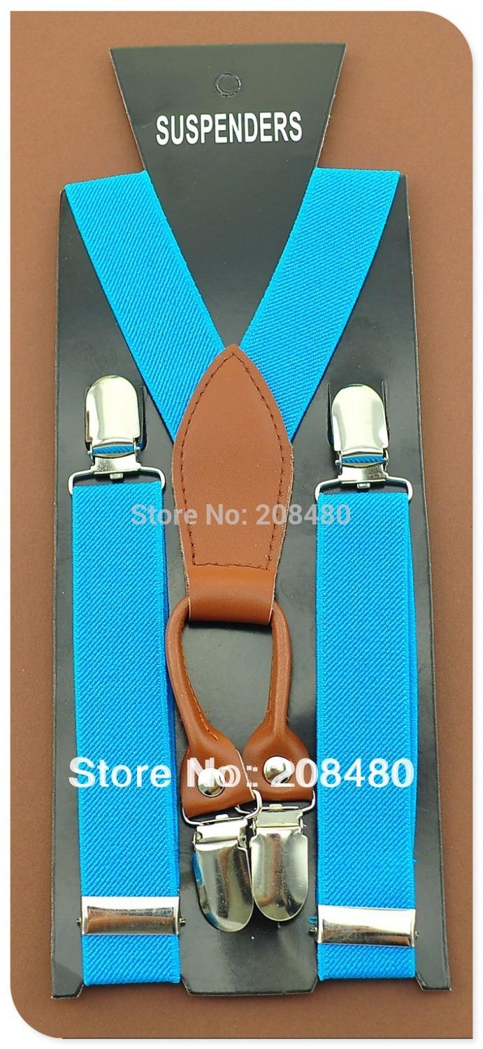 Free Shipping-Kids Suspenders BOYS/GIRLS Suspender Y-Genuine Leather 2.5cm Wide