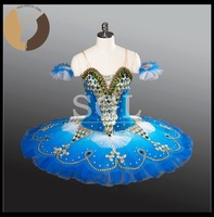 2017 New Girls Classical Ballet Tutus Blue Bird Costumes For Dance Show Adult Child Custom Made