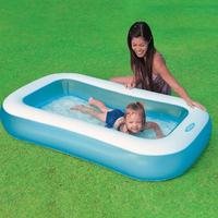 Baby Swimming Pool Float Inflatable Outdoor Square Swim Bathtub For Kids Children Swimming Accessories Boia Piscina