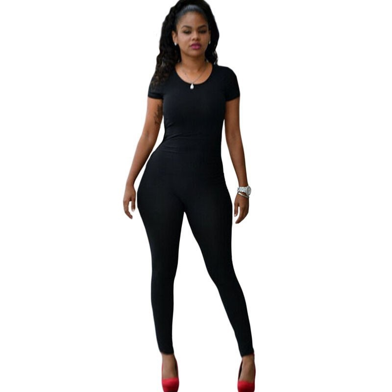 european american style 1 piece swimming suit hollow backless sexy straps Rompers sexy women pants trousers stretchable o neck