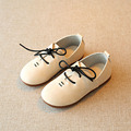 Lace Up Kids Boys Leather Shoes White 2017 Spring Toddler Boy Loafers British Style Children's Flats For Casual Sapatos Ninos