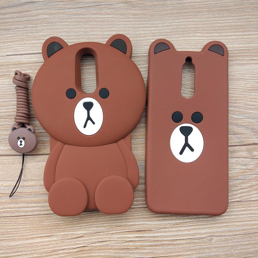 Cute Cartoon 3D Bear Phone Case For Huawei Mate 10 Lite / Huawei Nova 2I / Maimang 6 Soft Silicone Rubber Cover Fundas Coque
