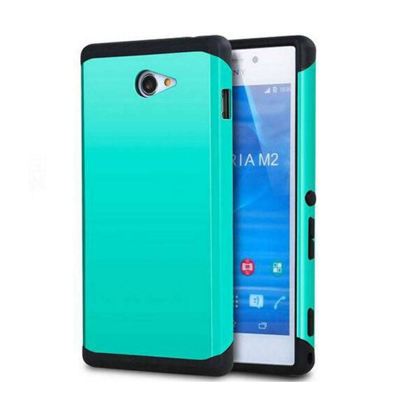 2017 Special Offer for Sony M2 Case Heavy Duty Armor for Xperia S50h D2303 D2305 D2306 Dual Sim D2302 Hard Back Cover Combo