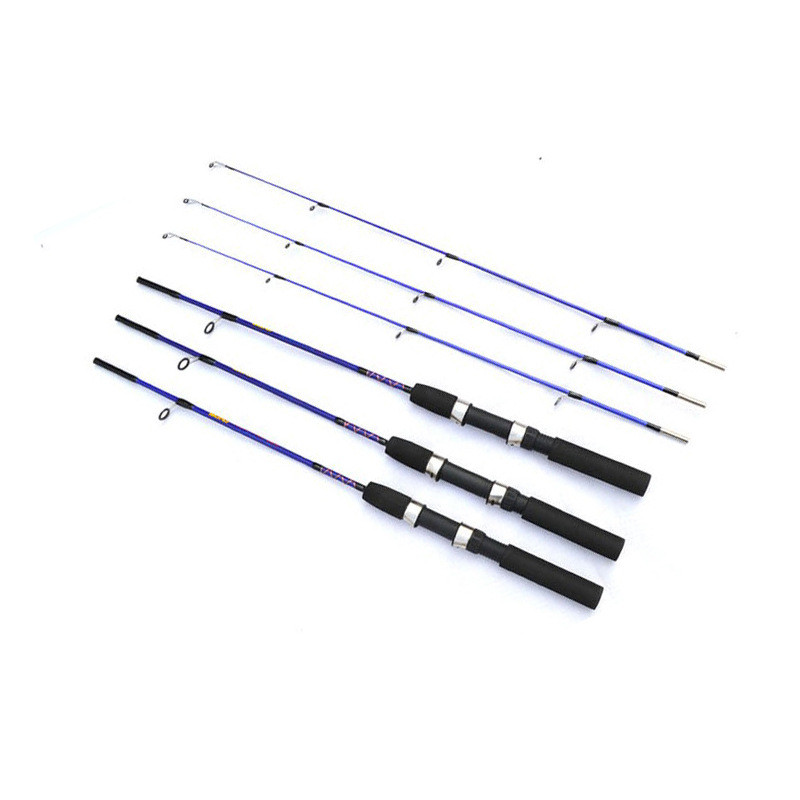 High Quality FRP Fly Fishing Rod China 1.2M 1.5M 2Section 4-12g 5-20g Lure Weight Cheap Raft Fishing Pole