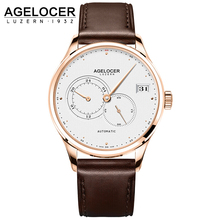 Top Luxury Switzerland Brand AGELOCER Men Automatic Watches Men's Clock Man Gold Waterproof Wrist Watch relogio masculino
